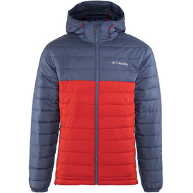 Columbia Powder Lite Hooded Jacket Men Red Spark/Dark Mountain